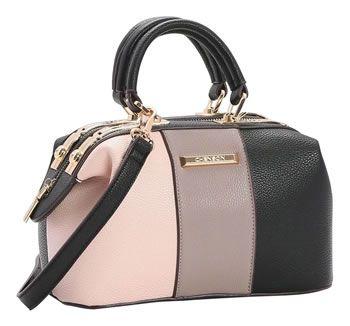 Bolsa Feminina Mini Bag Baú Transversal Chenson Cinza