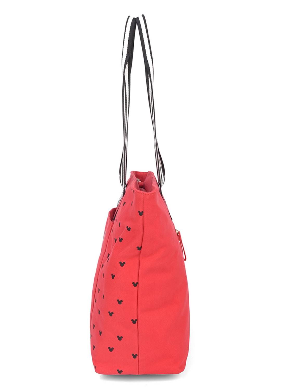 Bolsa Feminina Sacola de Ombro Mickey Vermelha Luxcel