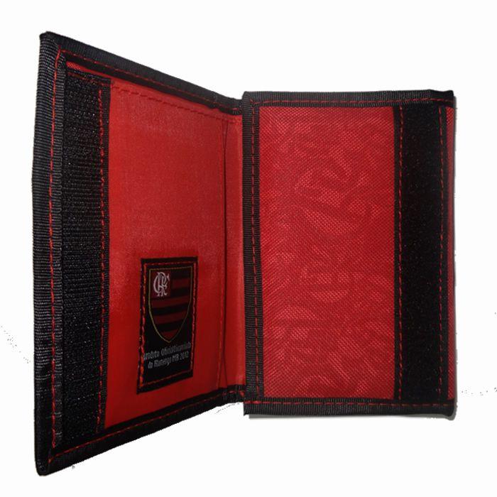 Carteira Masculina em Tecido Com Bordado em Relevo Xeryus Vermelho