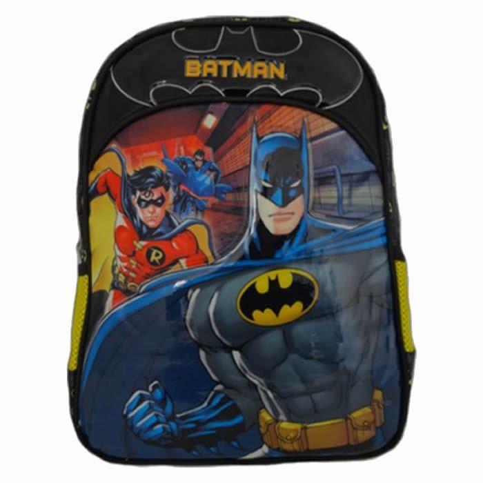 Mochila Masculina Infantil de Costas Batman Bat Squad