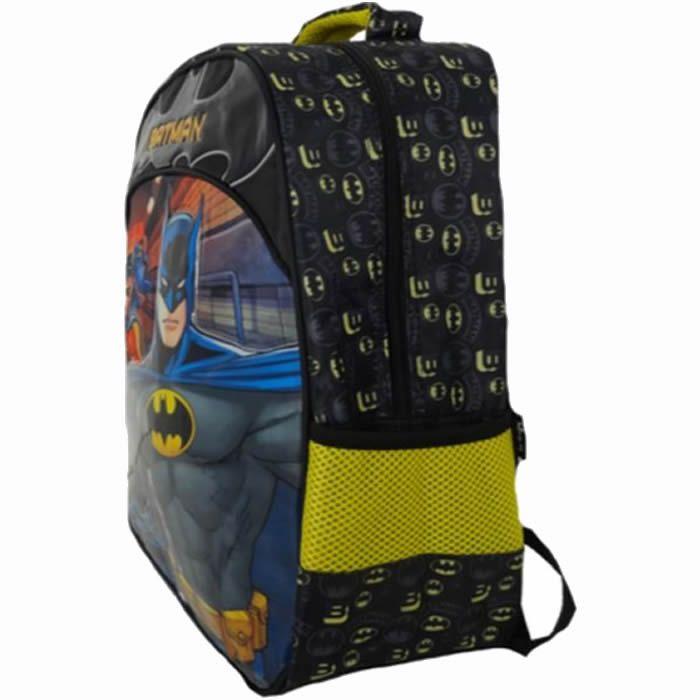 """Mochila Masculina Infantil de Costas Batman Bat Squad """"16"""""""