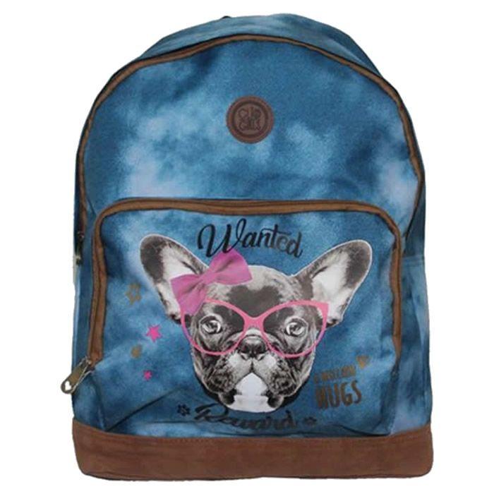 Mochila Feminina Escolar de Costas Clio Pets Azul