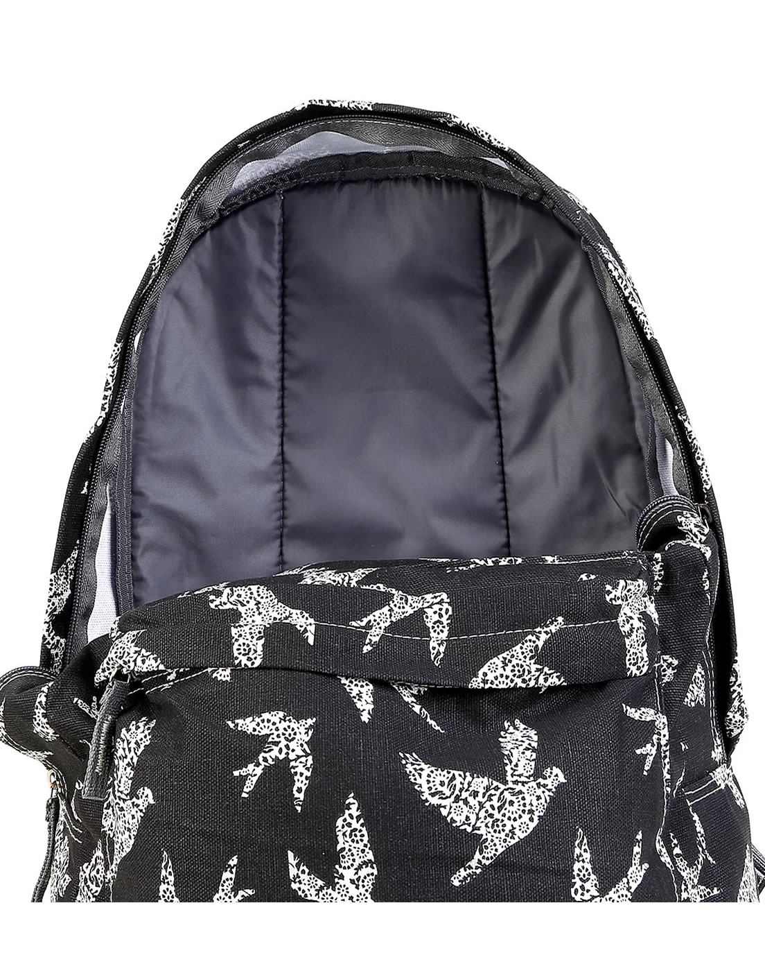 Mochila de Costas Casual Estampada Republic Vix Preto