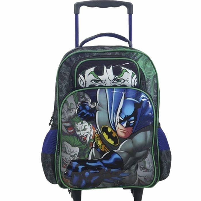 Mochila de rodinhas Escolar Infantil Batman x Joker