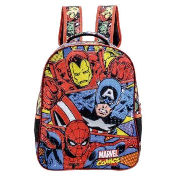 Mochila Escolar Infantil Marvel Comics
