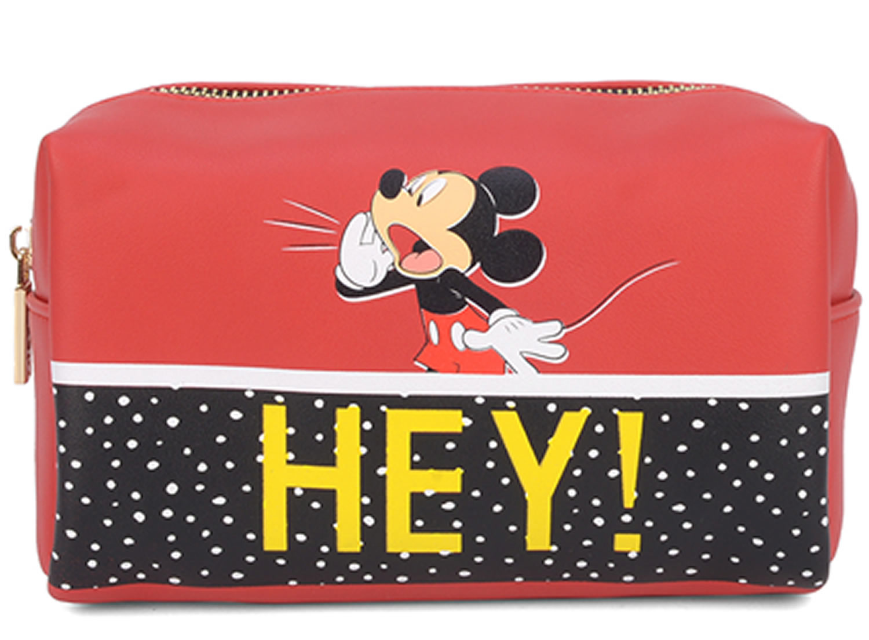 Necessaire Feminina e Porta Objetos Mickey Luxcel Vermelho