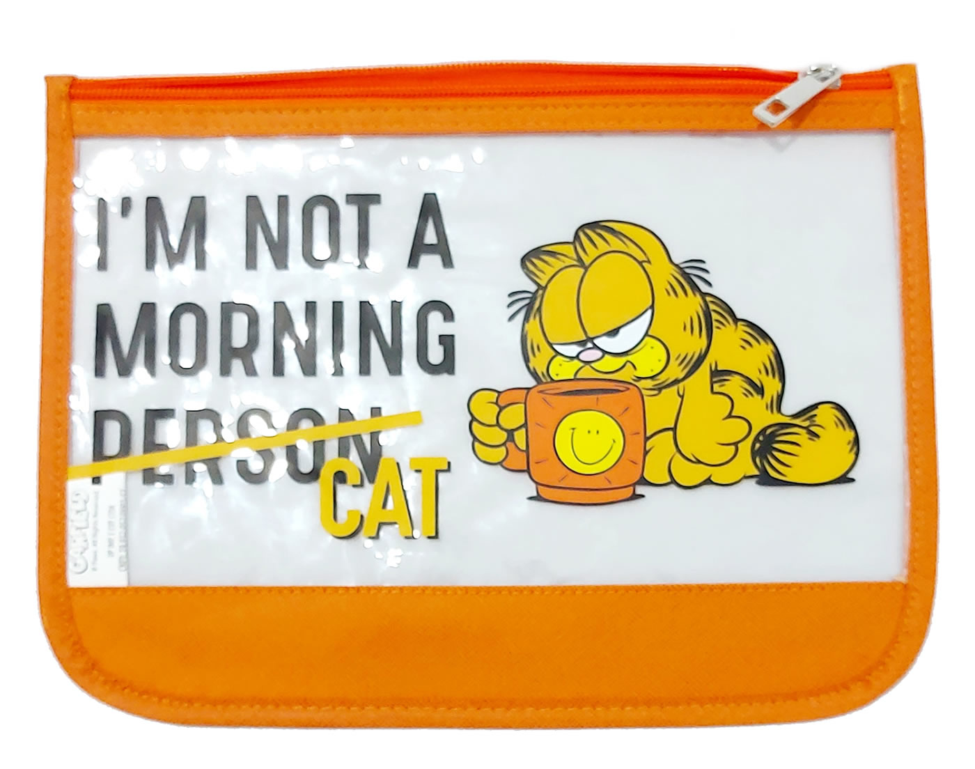 Necessaire Feminina Porta Objetos Garfield Fashion Laranja