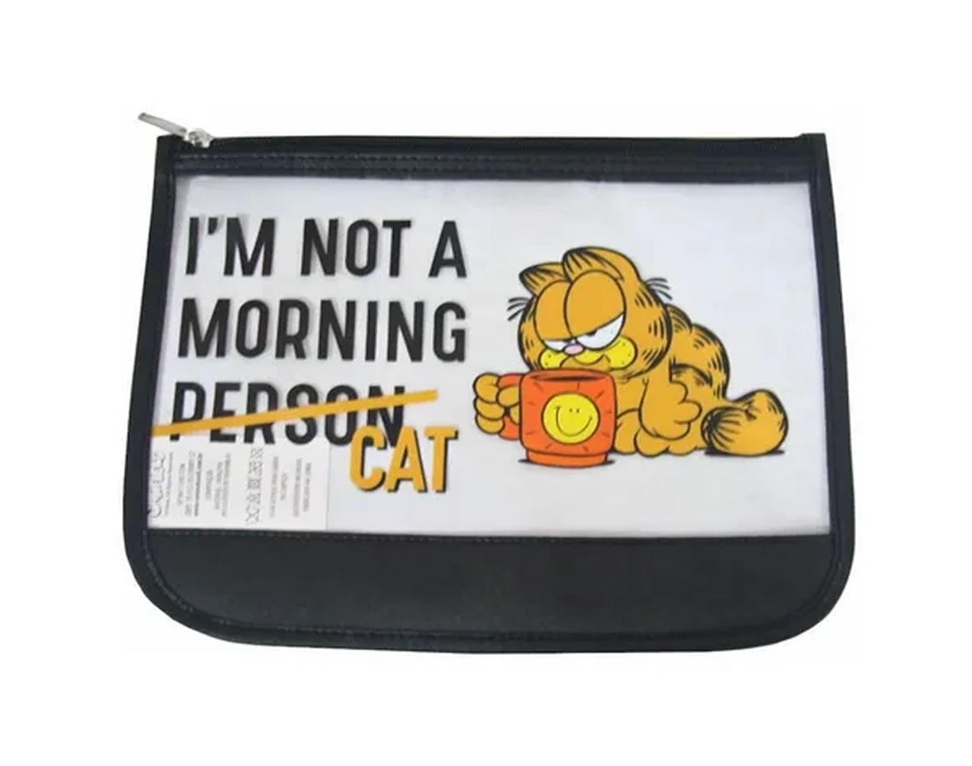 Necessaire Feminina Porta Objetos Garfield Fashion Preto