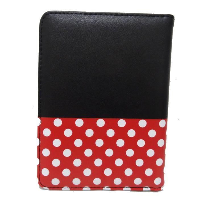Carteira Feminina e Porta Passaporte Minnie Preto e Vermelho