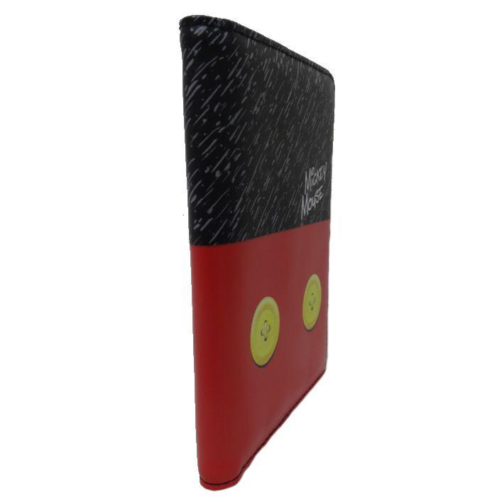Carteira e Porta Passaporte Luxcel Preto e Vermelho