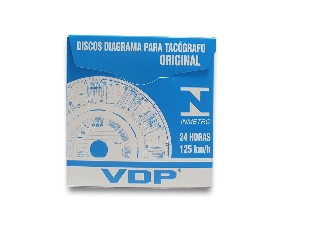 Disco tacógrafo diário 125 km/h