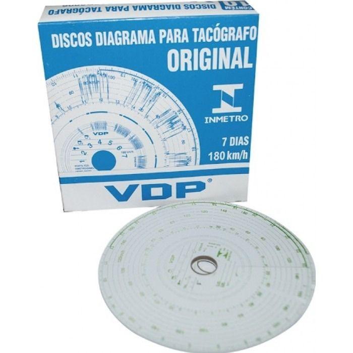 Disco Tacógrafo 7D 180km