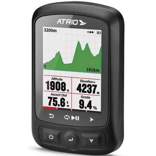 Gps ATRIO Titanium BI155 / Cinta Frequência Cardíaca / Sensor Cadência e Potência / Bateria Recarregável