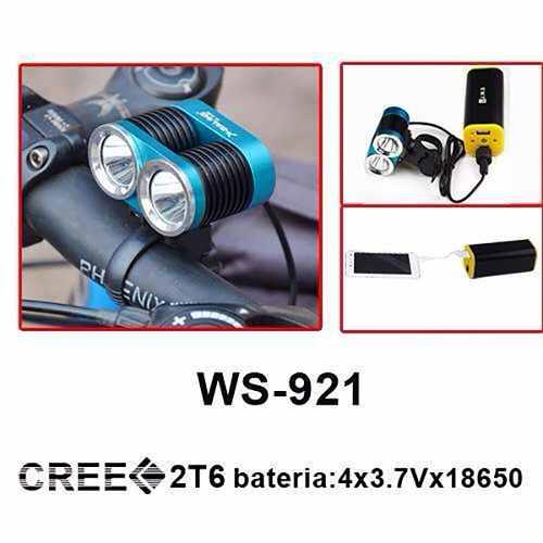 Farol JWS WS-921 2 leds Para Bicicleta