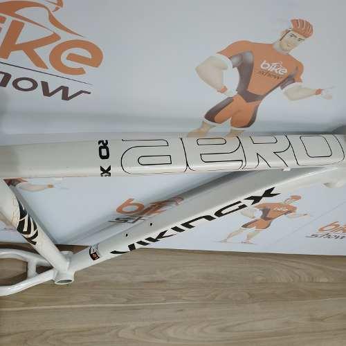Quadro MTB VIKINGX Aero X55 aro 26 Alumínio:  Tam 21 - Branco