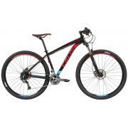 Bicicleta CALOI Explorer Expert aro 29 2019 - 27V Shimano Alívio - Suspensão Rock Shox XC30 - Freio Hidráulico