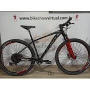 Bicicleta First 29 Lunix 12v Sram NX - K7 9/50 dentes - Freio Hidráulico Shimano - Suspensão Proshock Ônix com Trava no Guidão