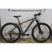 Bicicleta FIRST Lunix aro 29 - 12v Shimano Deore - Freio Shimano Hidráulico - Suspensão Absolute Prime a AR com Trava no Guidão
