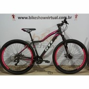 Bicicleta GTI Ísis aro 29 - 21v GTA - Freio a Disco VeloForce - Suspensão BikeMax
