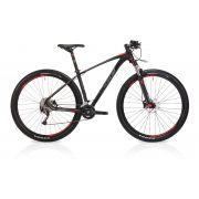 Bicicleta OGGI 7.2 2019 - 18v Shimano Alívio - Freios Shimano Alívio - Suspensão Rock Shox XC30 - Pto/Grafite/Vermelho