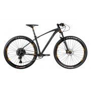 Bicicleta OGGI 7.3 2020 - 12v Sram SX - Suspensão Manitou - Novo quadro 2020 - Preto/Grafite/Laranja + BRINDES