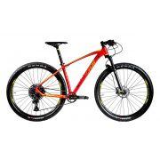 Bicicleta OGGI 7.3 2020 - 12v Sram SX - Suspensão Manitou - Novo quadro 2020 - Vermelho/Amarelo + BRINDES