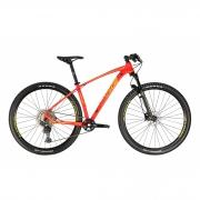 Bicicleta OGGI 7.3 2021 - 12v Shimano Deore - K7 10/51 Dentes - Vermelho/Amarelo + BRINDES