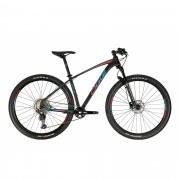 Bicicleta OGGI 7.3 2021 - 12v Shimano Deore - K7 10/51 Dentes - Preto/Vermelho/Azul + BRINDES