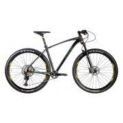Bicicleta OGGI Big Wheel 7.4 2020 - 12v Shimano SLX - Preto/Grafite/Amarelo