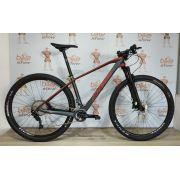 Bicicleta OGGI Agile Pró Carbon aro 29 2019 - 22V Shimano XT - Suspensão Rock Shox Sid WC - Grafite/Vermelho + BRINDES