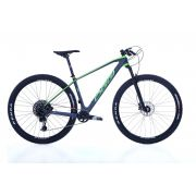 Bicicleta OGGI Agile PRO GX - Preto/Grafite/Verde