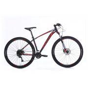 Bicicleta OGGI Big Wheel 7.0 aro 29 2020 - 18V Shimano Altus - Freio Hidráulico - Preto/Vermelha + BRINDES