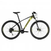 Bicicleta OGGI 7.1 2021 - 18v Shimano Alívio/Deore - Preto/Amarelo/Grafite  - A MELHOR DA CATEGORIA