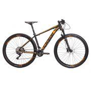 Bicicleta OGGI Big Wheel 7.3 aro 29 2018 - 20V Shimano Deore - Freio Hidráulico - Preto/Laranja + BRINDES