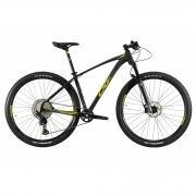 Bicicleta OGGI Big Wheel 7.4 2021 - 12v Shimano SLX - Freio Shimano Hidráulico - Suspensão Manitou Machete - Preto/Grafite/Amarelo