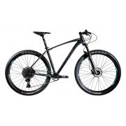 Bicicleta OGGI Big Wheel 7.5 2020 - Preto/Verde-Blue/Grafite