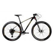 Bicicleta OGGI Big Wheel 7.5 2020 - 12v Sram NX/GX - MELHOR DA CATEGORIA - Preto/Dourado/Vermelho
