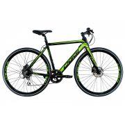Bicicleta OGGI E-Bike Lite Tour E-500 2020 SEMINOVA - 8v Shimano Acera - Preto/Verde