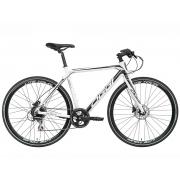 Bicicleta OGGI E-Bike Lite Tour E-500 - 8v Shimano Acera - Freio Shimano Hidráulico - Branco/Preto