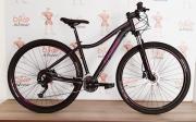 Bicicleta OGGI Float 5.0 2019 - 27V Shimano Altus - Freio hidráulico - Preto/Uva + BRINDES