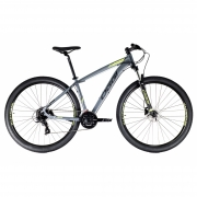 Bicicleta OGGI Hacker HDS 2021 - 24v Shimano Tourney - Freio Shimano Hidráulico - Grafite/Verde/Preto + BRINDES