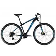 Bicicleta OGGI Hacker Sport 2021 - 21v Shimano Tourney - Freio a Disco - Preto/Azul/Amarelo
