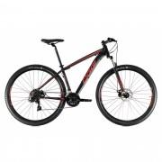 Bicicleta OGGI Hacker Sport 2021 - 21v Shimano Tourney - Freio a Disco - Preto/Vermelho/Dourado