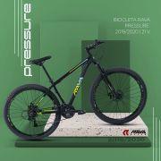 Bicicleta RAVA Pressure aro 29 2020 - 21v Shimano SIS traseiro - Freio a Disco - Preto/Verde/Azul