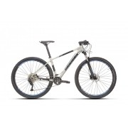 Bicicleta SENSE Rock Evo 2021 - 20v Shimano Deore - Suspensão RockShox Judy - Cinza/Azul