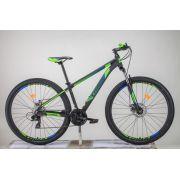 Bicicleta TRINX aro 29 - 24v Shimano Tourney - Freio a Disco Mecânico - Preto/Verde/Azul