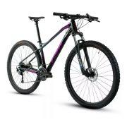Bicicleta TSW Stamina aro 29 - 27v Shimano Alívio - Freio Shimano Hidráulico - Lançamento TSW linha 2020 - Pto/cz/Violeta