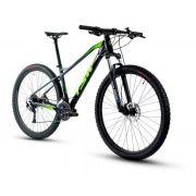 Bicicleta TSW Stamina aro 29 2020 - 27v Shimano Alívio - Pto/Cinza/verde + BRINDES + Camisa BIKE SHOW