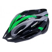 Capacete ELEMENT cor Preto/verde com Led