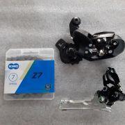 Kit 3 Peças Corrente / Câmbio dianteiro e Câmbio Traseiro